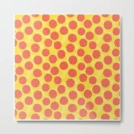 Pizza Pattern | Fast Food Cheese Italian Metal Print