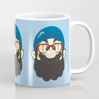 mario Mugs featuring Mario bro by Beardy Graphics
