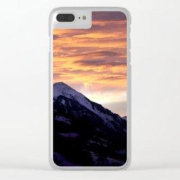 Sky Fire Clear iPhone Case