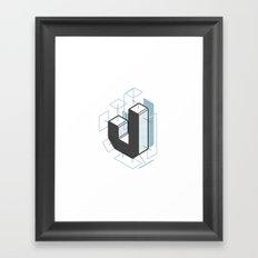 The Exploded Alphabet / J Framed Art Print