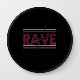 rave prism logo Wall Clock