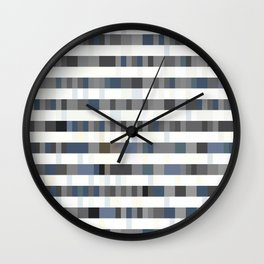 Bach Invention (Shades of Grey) Wall Clock