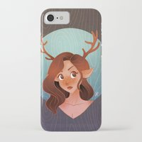 fawn iPhone & iPod Cases featuring Fawn by Lauren Draghetti
