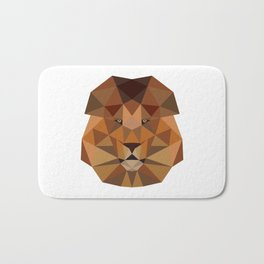 Lion head geometric polygon gift idea line hipster Bath Mat