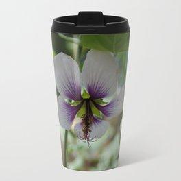 Light and Dark Purple Flower Travel Mug