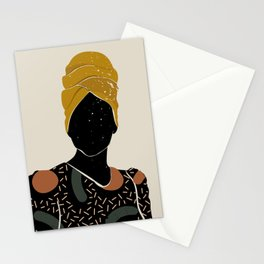 Black Hair No. 10 Stationery Cards