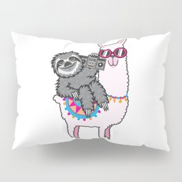 Sloth Music Llama Pillow Sham