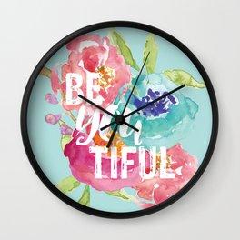 BeYouTiful Wall Clock