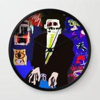 basquiat Wall Clocks featuring My Basquiat by Robert Morris