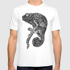 Chameleon  MEDIUM White Mens Fitted Tee