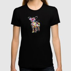Chihuahua Black X-LARGE Womens Fitted Tee