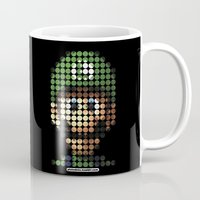 luigi Mugs featuring Pictodotz - Luigi by dudsbessa