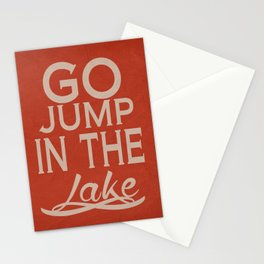 Go Jump in the Lake Stationery Cards