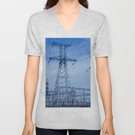 power plant Unisex V-Neck