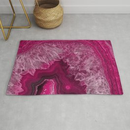Pink purple agate mineral gem stone - Beautiful backdrop Rug