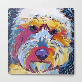 Sunshine the Goldendoodle Metal Print