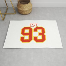 Est. 93 in red and gold Rug