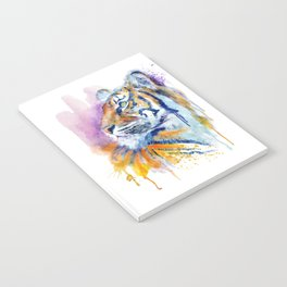 Young Tiger Watercolor Portrait Notebook