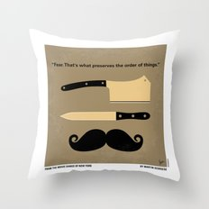 No195 My Gangs of New York minimal movie poster Throw Pillow
