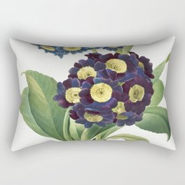 Primula Auricula (1827) by Pierre-Joseph Redoute and Henry Joseph Redoute Rectangular Pillow