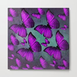 BUTTERFLY PURPLE Metal Print