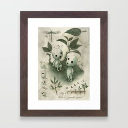 Natural Histories - Forest Spirit studies Framed Art Print