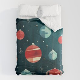 Joy to the Universe (in Teal) Comforters