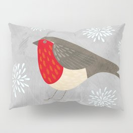 Robin and Snowflakes Pillow Sham