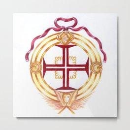 Templar cross. Cruz Templária Metal Print