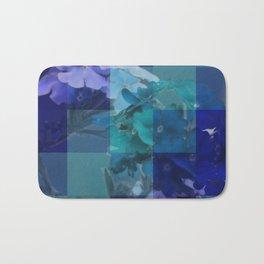 Purple And Blue Tiled Verbena Bath Mat