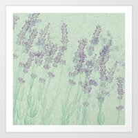 lavender Art Prints featuring Lavender by Dana Martin