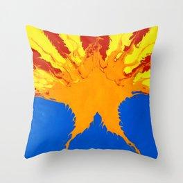 Arizona Flag (Poured Acrylic Style) Throw Pillow