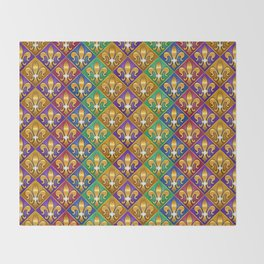 Harlequin Fleur di Lis Diamonds Throw Blanket