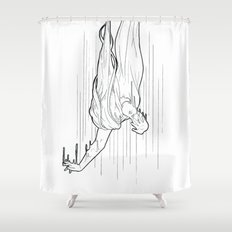 Nightmare falling Shower Curtain