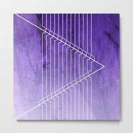 Disrupt - Purple Metal Print