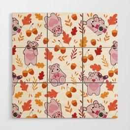 Sakura Fall Pattern Wood Wall Art