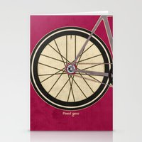 brompton Stationery Cards featuring Single Speed Bicycle by Wyatt Design