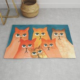 Santa Fe Whimsical Cats Rug