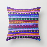 gem Throw Pillows featuring Gem by Erin Jordan
