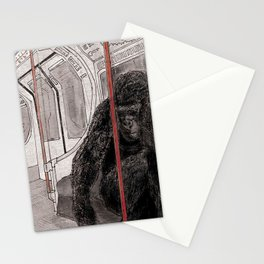 Gorilla on the Tube Stationery Cards
