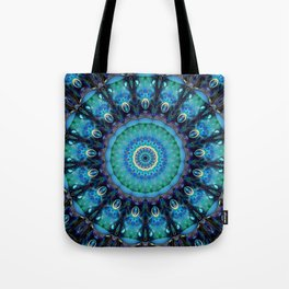 Jewel Of The Ocean Mandala Tote Bag