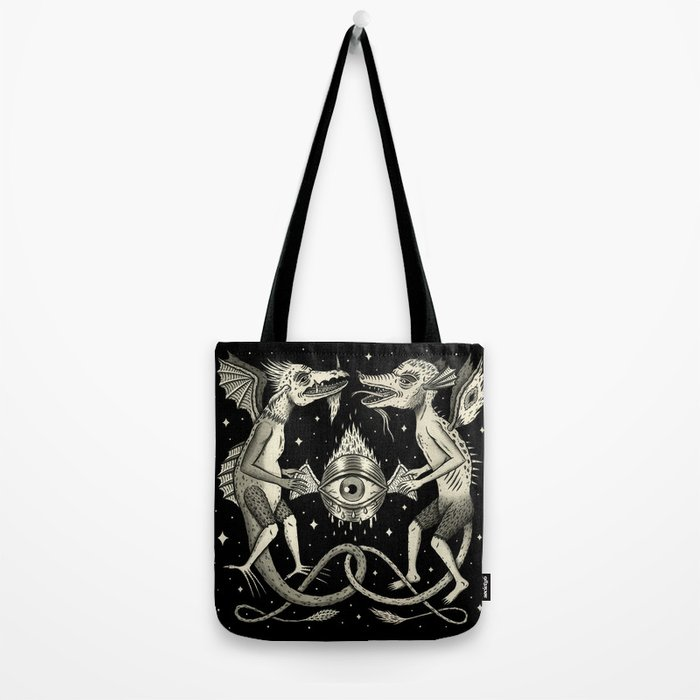 Heraldic Beasts with All-Seeing Orb Tote Bag