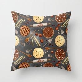 Pie Day Pattern Throw Pillow