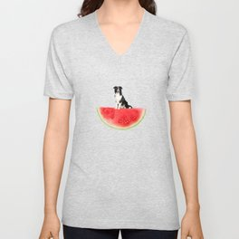 Melon Collie Unisex V-Neck