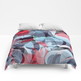 circle fractures blue red Comforters