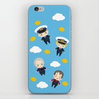cabin pressure iPhone & iPod Skins featuring Cabin Pressure: The Lemon is With You by Le Bear Polar