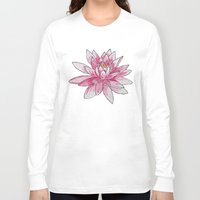 lotus Long Sleeve T-shirts featuring Lotus by Haley Erin