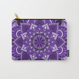 Ultra Violet and Lavender Mandala Carry-All Pouch