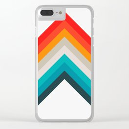 Colorful bands Clear iPhone Case