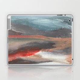 Serenity [2]: an acrylic piece in both warm and cool colors by Alyssa Hamilton Art Laptop & iPad Skin